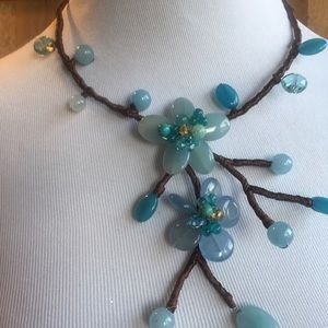 Wired Chocker W/ beautiful Designer Blue Flowers